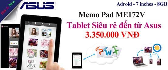 Asus Memo máy tính bảng siêu rẻ - 1