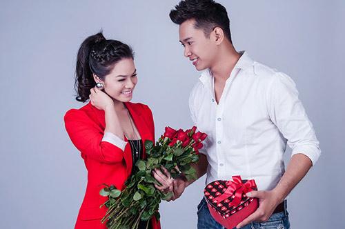 Nhật Kim Anh bên trai đẹp Lễ tình nhân