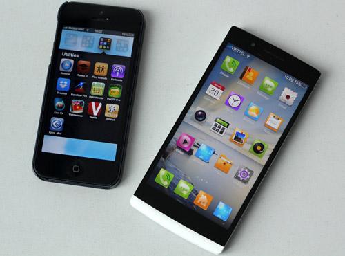 iPhone 5 đọ dáng OPPO Find 5, Thời trang Hi-tech, OPPO Find 5, iPhone 5 do dang OPPO Find 5, ra mat OPPO Find 5, gia OPPO Find 5, dien thoai OPPO Find 5, Find 5, OPPO, ra mat iPhone 5, gia iPhone 5, dien thoai, OPPO Find 5 vs iPhone 5, dtdd, iPhone