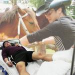 Hậu trường phim - Minh Tiệp nhập viện vì ngã ngựa