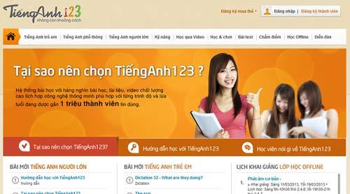 TiếngAnh123.Com: Học tiếng Anh online tại Việt Nam - 1