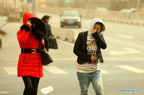 Chùm ảnh: Bão cát, khói bụi tấn công Bắc Kinh - 4