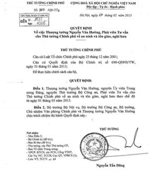 Thượng tướng Nguyễn Văn Hưởng về hưu - 1