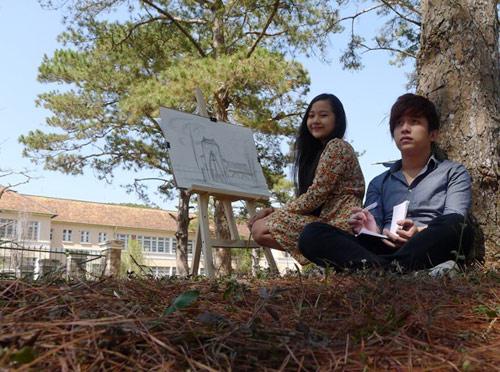 Midu váy ngắn đóng phim tại Đà Lạt - 10
