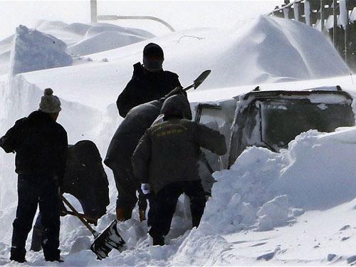 Nhật: Ôm con trong bão tuyết, bố chết cóng - 1