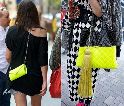 Cùng túi xách màu neon rực rỡ xuống phố - 2