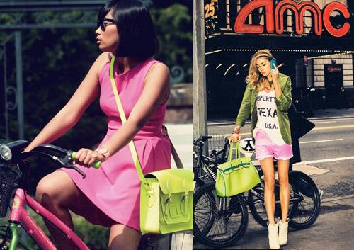 Cùng túi xách màu neon rực rỡ xuống phố - 17