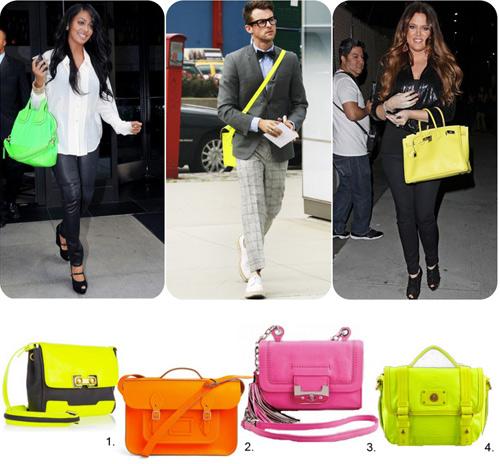 Cùng túi xách màu neon rực rỡ xuống phố - 1