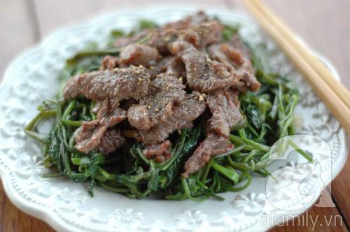 Rau muống xào thịt bò đơn giản, ngon cơm - 10
