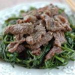 Ẩm thực - Rau muống xào thịt bò đơn giản, ngon cơm