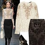 Thời trang - 7 cách phối hợp váy ren sang & sành