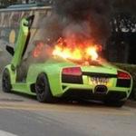 Ô tô - Xe máy - Lamborghini Murcielago cháy dữ dội trên phố