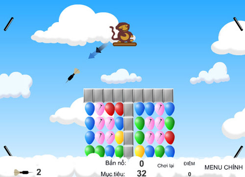 Game hay: Khỉ con bắn bóng - 2