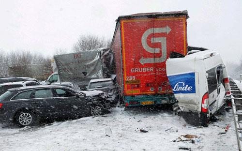 Giao thông châu Âu tê liệt vì bão tuyết - 2