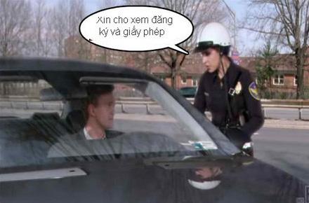 Chùm ảnh: Trêu nữ cảnh sát giao thông - 1