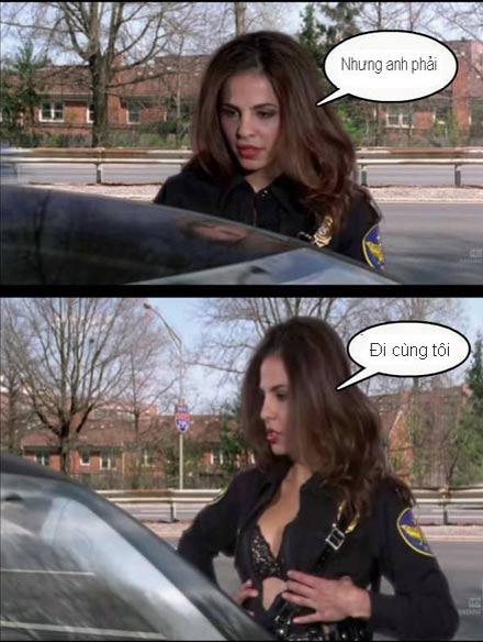 Chùm ảnh: Trêu nữ cảnh sát giao thông - 10