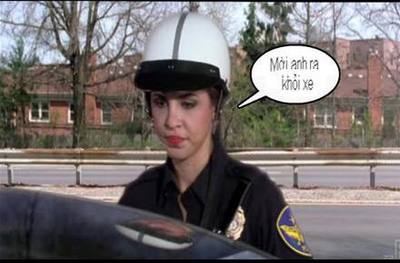 Chùm ảnh: Trêu nữ cảnh sát giao thông - 7