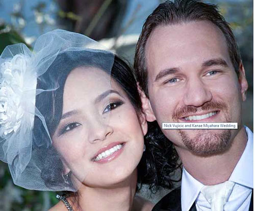 1363781172 vo nguoi khong tay chan1 Nick Vujicic and Kanae Miyahara: An Inspiring Life and Love Story