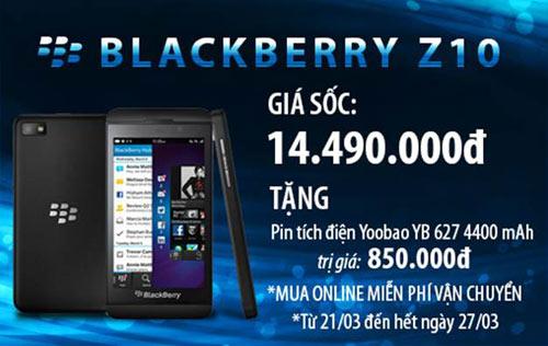 Nhật Cường Mobile: Khuyến mãi lớn khi mua Blackberry Z10 - 1