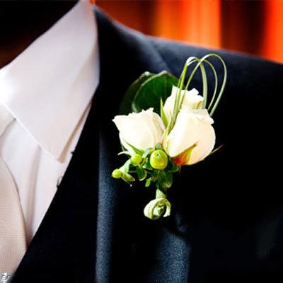 Hoa cài áo tinh tế cho chú rể - 1