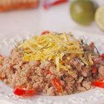 Ẩm thực - Thịt heo xào lá chanh làm dễ mà ngon
