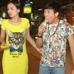 Trấn Thành cùng hoa hậu dạo phố Campuchia