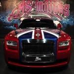 Ô tô - Xe máy - Rolls-Royce Ghost phủ cờ Anh bắt mắt