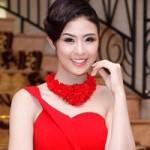 Thời trang - Hoa hậu Ngọc Hân đỏ rực đầu năm