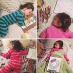 Bạn trẻ - Cuộc sống - Ảnh ngủ dễ thương của cô bé mê vẽ gây sốt