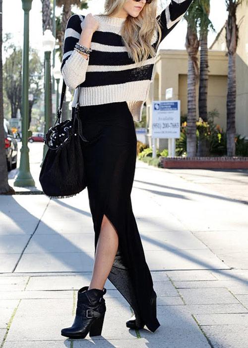 Cách diện áo len dáng ngắn thật cá tính - 9