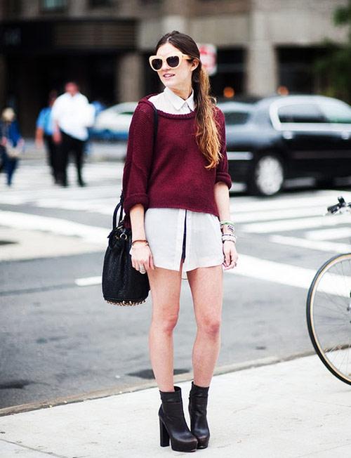 Cách diện áo len dáng ngắn thật cá tính - 2
