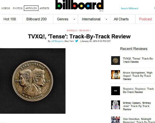 Boyband lừng danh TVXQ chễm chệ Billboard Mỹ - 1
