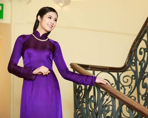 Ngọc Hân duyên dáng áo dài xuân - 1