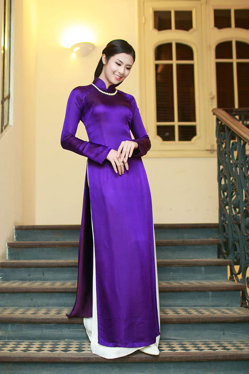 Ngọc Hân duyên dáng áo dài xuân - 2