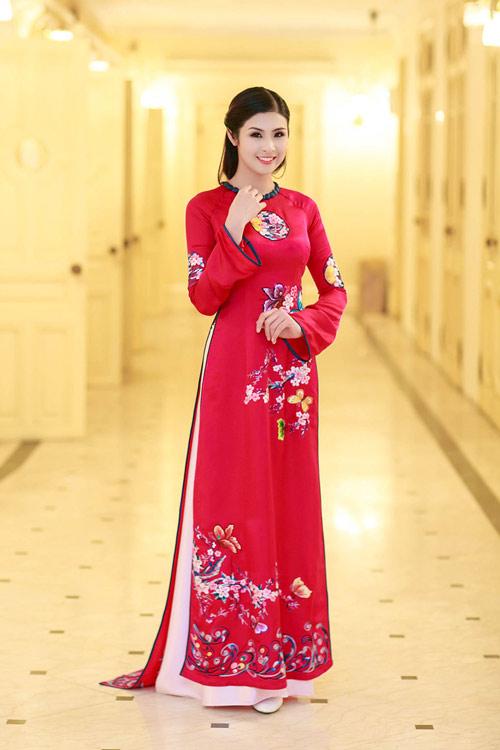 Ngọc Hân duyên dáng áo dài xuân - 10