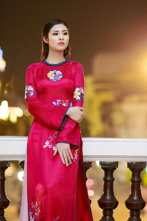 Ngọc Hân duyên dáng áo dài xuân - 12