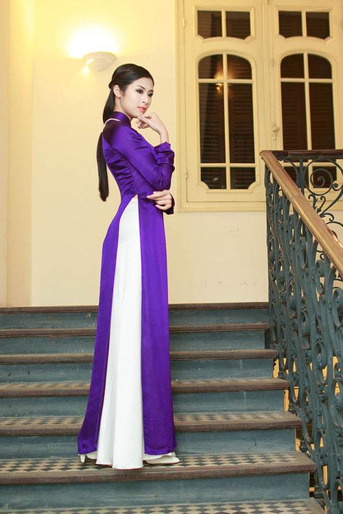 Ngọc Hân duyên dáng áo dài xuân - 3