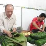 Thị trường - Tiêu dùng - Cận tết, làng nghề bánh chưng im ắng