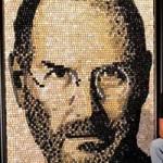 Công nghệ thông tin - Bức tranh Steve Jobs khổng lồ ghép từ phím keyboard