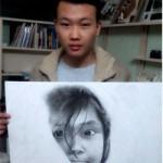 Bạn trẻ - Cuộc sống - 9X vẽ chân dung bằng bút bi giống hệt người thật