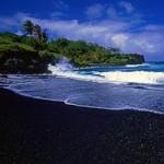 Du lịch - Bãi biển cát đen kỳ lạ ở Hawaii