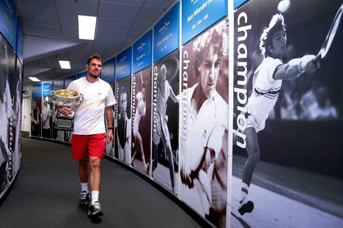 Wawrinka giản dị ăn mừng danh hiệu Australian Open 2014 - 8
