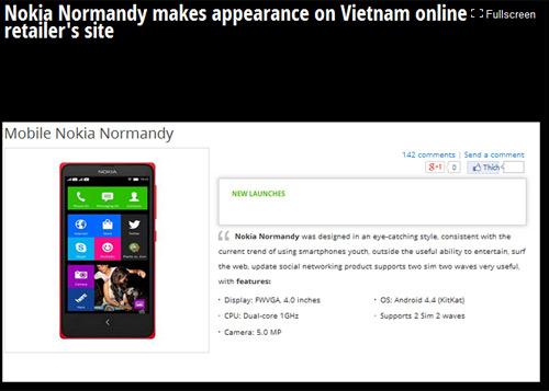 Nokia Normandy chưa công bố đã xuất hiện tại Việt Nam - 1