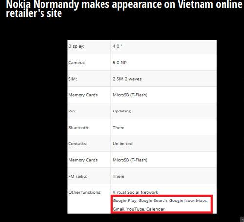 Nokia Normandy chưa công bố đã xuất hiện tại Việt Nam - 2