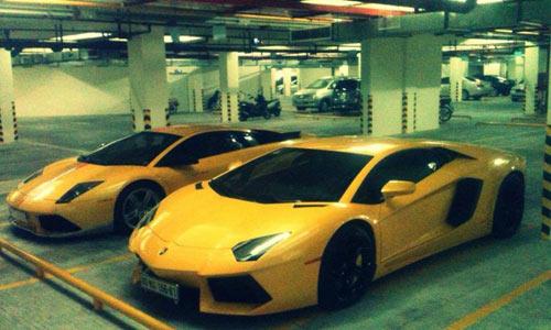 Bộ đôi siêu xe Lamborghini hàng độc ở Sài Gòn - 1