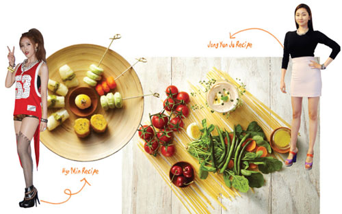 Tiết lộ bữa ăn giữ dáng của người đẹp Hàn - 1