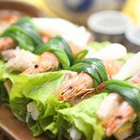 Thang - cuốn tôm thịt, món ăn lạ mà quen