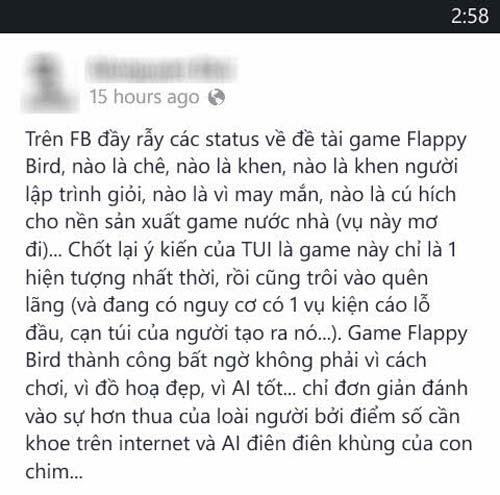 """Flappy Bird: """"Chỉ là hiệu ứng nhất thời!"""" - 3"""