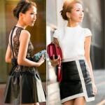 Thời trang - Quý cô đẹp hiện đại với váy da