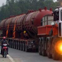 Cận cảnh chiếc ô tô 158 bánh tại Việt Nam